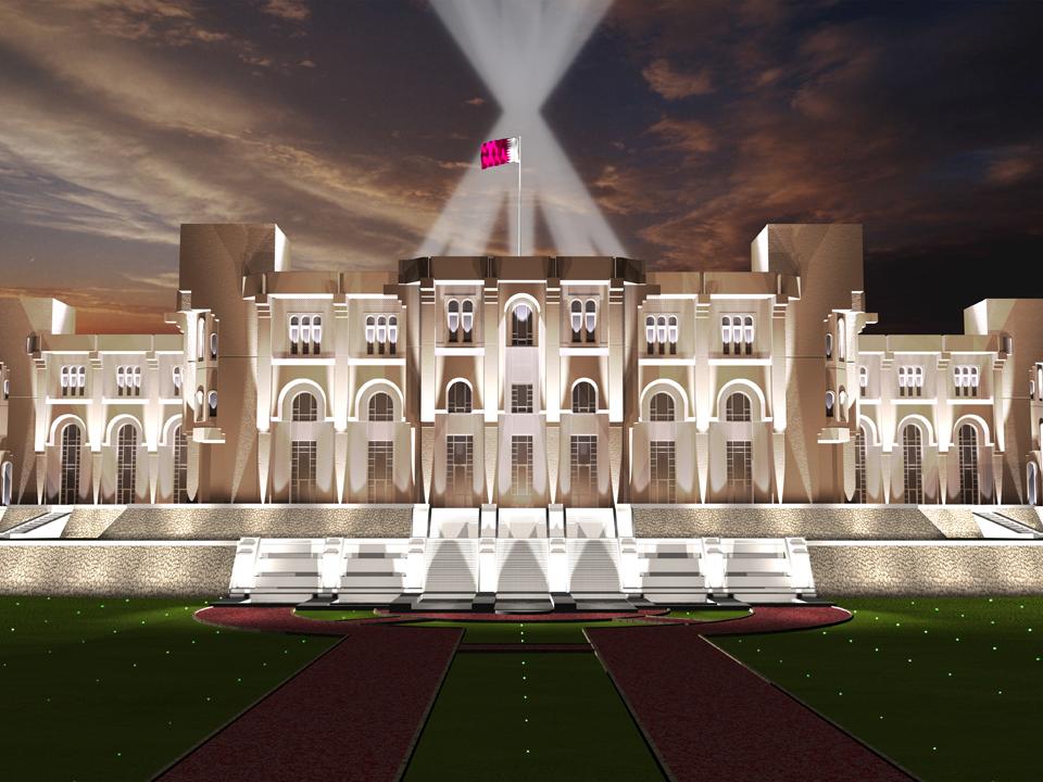 2006 Amiri Diwan Doha Qatar Lighting 3d Simulation